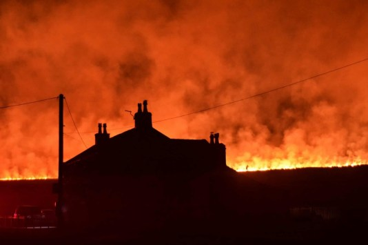 Marsden Moor Fire picture courtesy of Nick Lawton