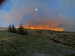 Marsden moor fire from Brun Cloygh Reservoir 25-04-21 by Saddleworth Independent (3)