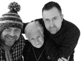 Nigel, Joan and Julian b&w