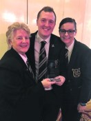 Percussion Section winners Jenny Ward, Andrew and Katie Woodward