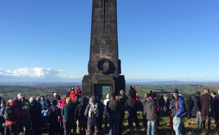 Crowds gather across Saddleworth to pay respects on Remembrance Day