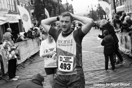 A relieved Ewan Winston at the finish line