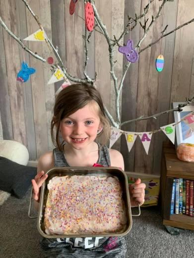 Skye (8) won the Easter Cake category
