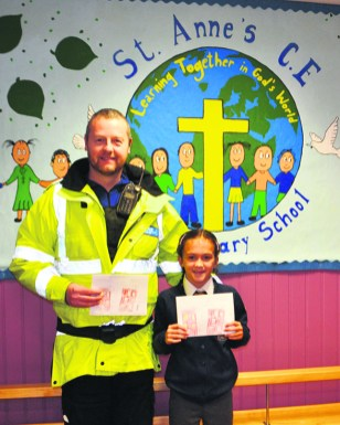 At St Anne's Lydgate, Isabella Davey from Year 5 was picked as the winner for her eye-catching drawing.