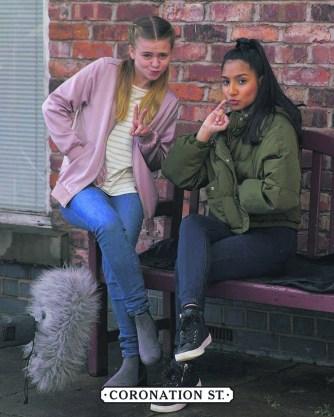 Tanisha on Corry with Matilda Freeman who plays Summer Spellman