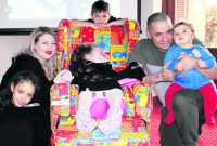 Francis House Hospice gives some happiness to Saddleworth family