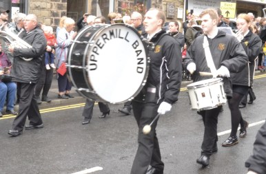 Uppermill Band drum
