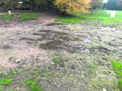 Wet pitch