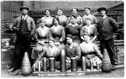 Workers at Platt Brothers Shell Dept