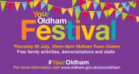 Be Inspired, Get involved and have fun at the #YOUROLDHAM festival