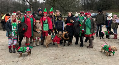 Edge Gate Elves from Denshaw, who brought 11 humans, four dogs and three ponies