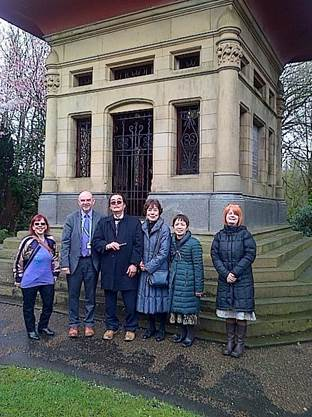 The group at Alexandra Park