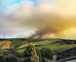 moors blaze seen from A62