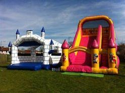slide and castle