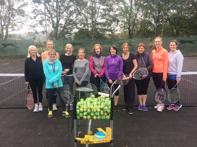 Players at cardio tennis