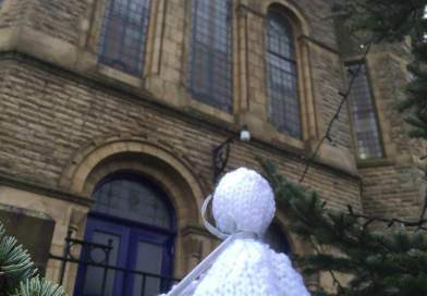 Hand-knitted angels bring Christmas delight to community