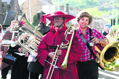 York Band in medieval gear