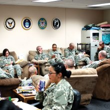 Military Liaison Office at the Tucson International Airport being used by service personnel en route to Ft. Huachuca.