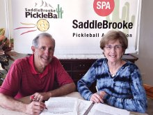 SPA Tournament Co-Directors Pete Giljohan and Nancy Shelton are busy organizing the matches of 35 plus teams who have already registered to play in the tournament February 19 to 22. SPA members are encouraged to register by the February 14 deadline. Guests and observers are welcome to attend to watch all the action during any of the four tournament days.