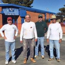 Paint crew, left to right: Sam Miller, Stan Fly, Joe Jones and Bruce Deverman