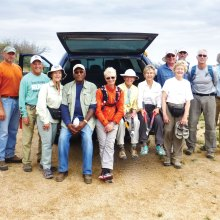 Volunteer Arizona Trail clean-up workers were Shawn Redfield, Tom Oetinger, Tom Conrad, Elisabeth Wheeler, John Black, Kathy Gish, Harriet Pearson, Mary Croft, Cheryl Werstler, Garrett Ressing, Don Washco, David Vermerris, Tom Geiger and Chuck Kaltenbach; photo by Bob Giesen.