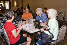 Many SaddleBrooke residents took advantage of a special Question and Answer session.