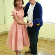 Tom and Pam are ready to dance at the Sock Hop!