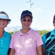 Left to right: Diane Mazzarella, Karen Koch and Caroline Whitt