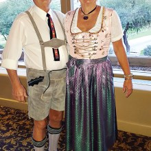 Trudy Varga and Walt Teike attending in native German costumes.