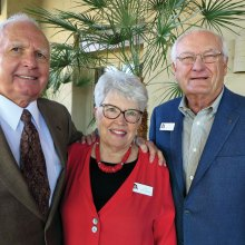 SaddleBrooke residents Pat Webb (left) and Judy Stanard are members of the Resurrection Church Council. Gary Zellinger is a member of the Nominating Committee.