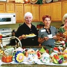 From left: Mary Anderson, Gerry Burnside and Sandra Hackett