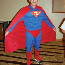 Larry Clark appeared as Superman at the 2015 SBCO Fashion Show.