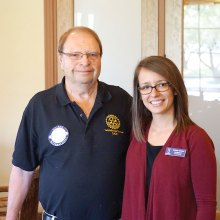 Kristyn Conner spoke to the SaddleBrooke Sunrise Rotary Club.