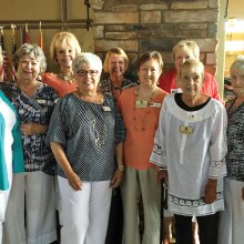 Left to right, back: Lauchette Low, Barbara Webb, Darla Grave, Liz Baty; front: Wanda Hutchinson, Karen Hustad, Judy Stanard, Sue Search and Bette Holman