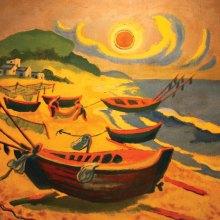 Sun on the Baltic Beach by Max Pechstein