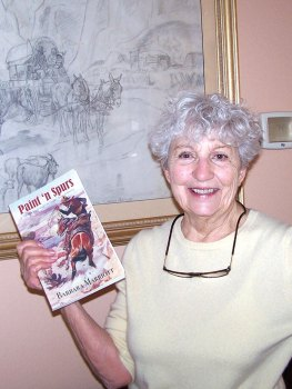 Author Barbara Marriott with her new book Paint 'n Spurs