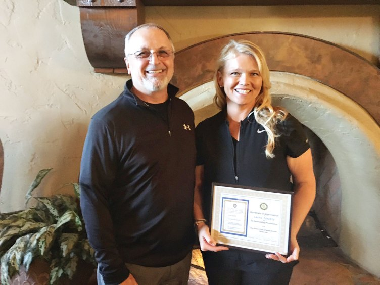 Rotarian Robert Christadore and University of Arizona Ladies Golf Coach Laura Ianello