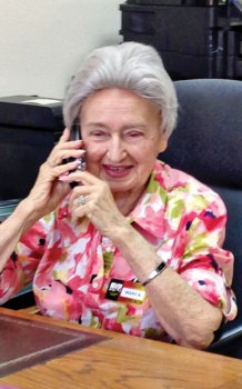 Honoring Mary Anderson, long-time loyal Monday morning receptionist, who we lost last year.