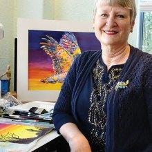 Karen Brungardt pauses in her studio.