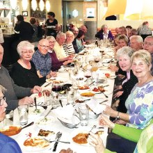A delicious meal of Indian cuisine was enjoyed by members and a guest.