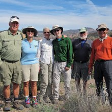 Left to right: Dave Corrigan, Pam Corrigan, Susan Hollis, Randy Park, Jeff Traft and Ray Peale; photo by Dave Corrigan