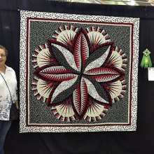 Doreen with the Red Hot Hosta Quilt