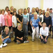 Level One line dancers from Rebecca's classes had a busy spring learning and perfecting nine dances in the 10 week series of the winter 2017 season; congratulations.