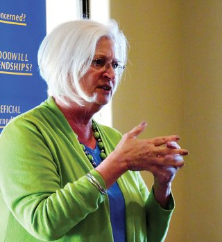 Dr. Cynthia Chevalley, Director of the Tri-Community Food Bank