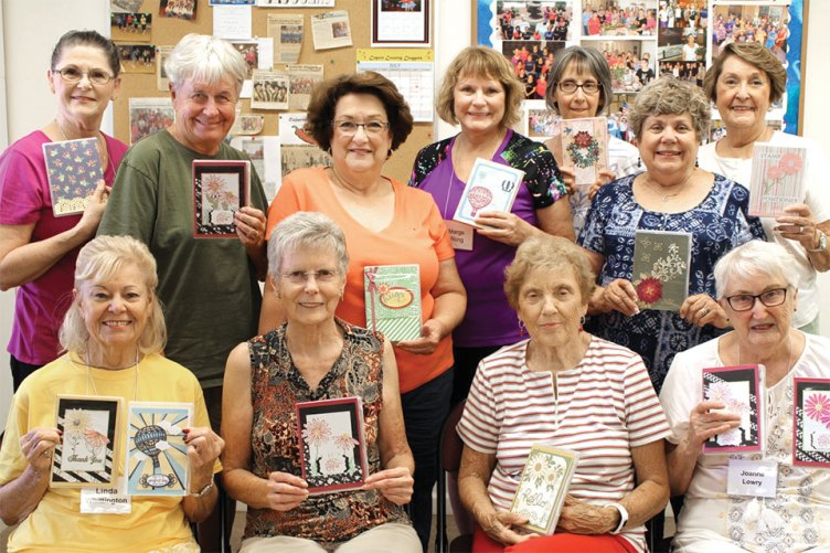 Participants of our July Fun Shop: Note Card Box Kit