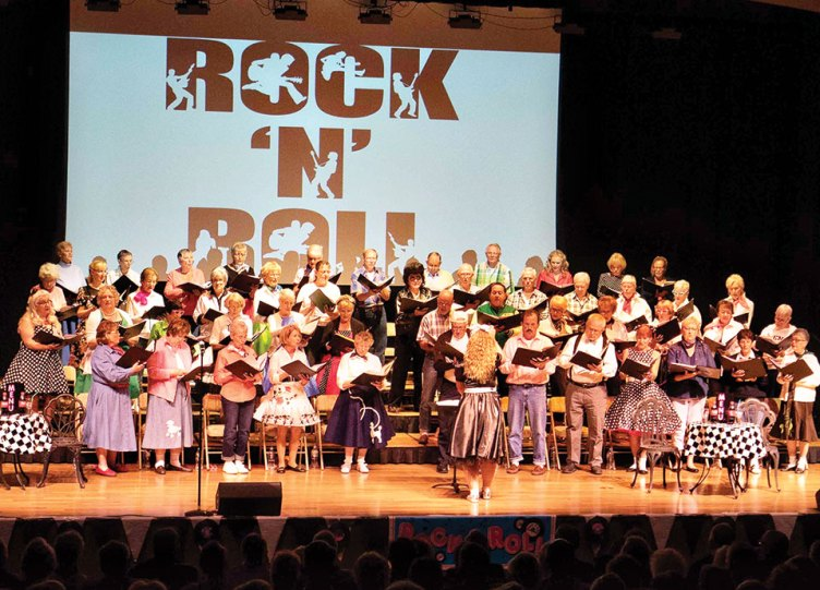 50s Rock 'n Roll fun at the SaddleBrooke Singers concert last spring; photo credit Bill George.