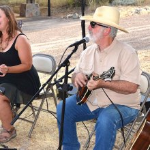 Park Ranger Jennifer Rinio and her friend entertained with pleasant duets.