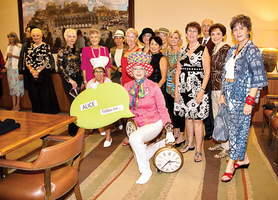 Volunteers modeled clothing and accessories hand-picked from the Golden Goose inventory in last year's Alice in Wonderland-themed fashion show.