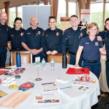 Gold Ranch first responders at the 2018 Health Fair.