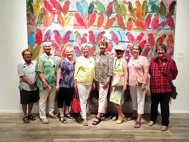 WOOO members who carpooled from SaddleBrooke for an excursion to the downtown Tucson Museum of Art. Prior to touring the museum, they had a lovely lunch at the adjacent and highly-regarded Cafe a la C'Art.